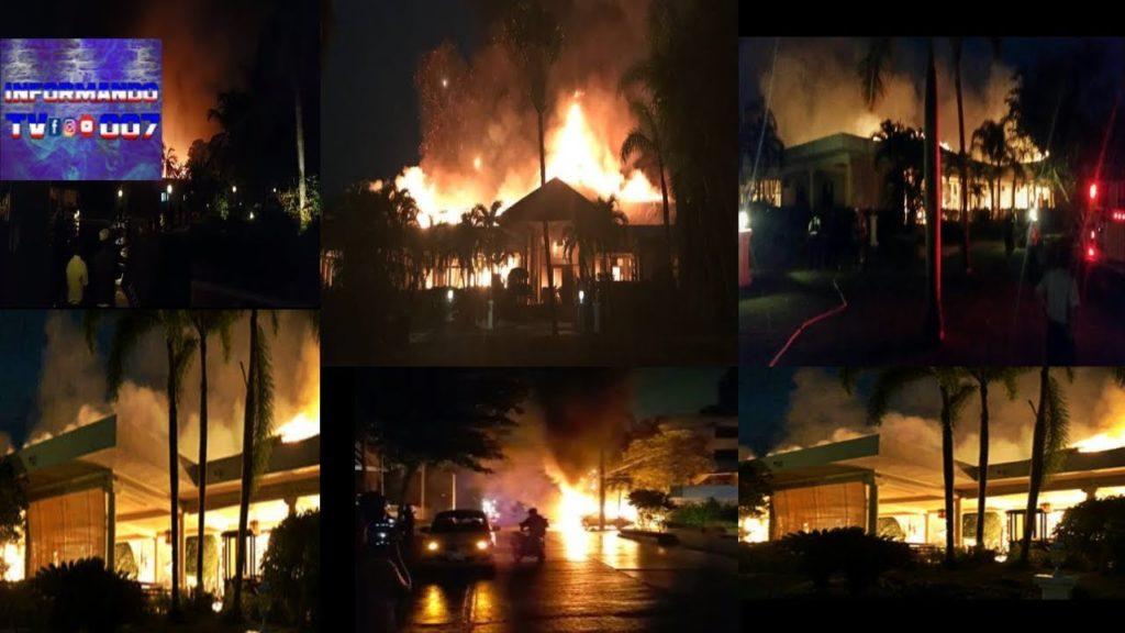 В Баваро сгорели новые помещения отеля Melia Tropical