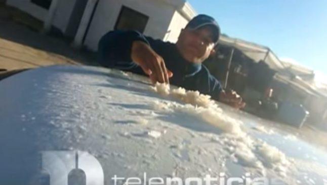 В Доминикане выпал снег! Видео iDominicana.com