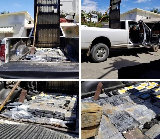 На дороге Верон-Пунта Кана арестовали грузовик полный кокаина 1