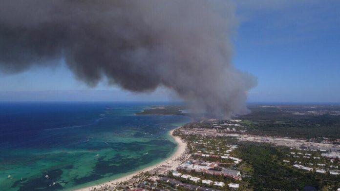 Масштабный пожар в Баваро напугал гостей и жителей города