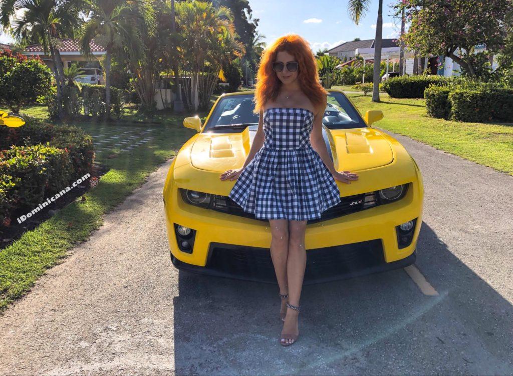 Аренда авто в Доминикане: желтый кабриолет Chevrolet Camaro