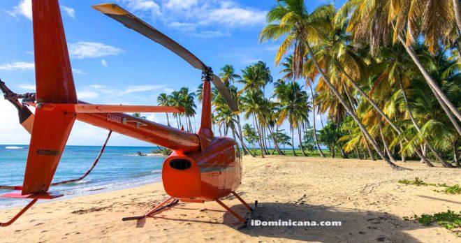 Экскурсия на вертолете: водопад Ля Хальда и пляж Эсмеральда - новые фото iDominicana.com