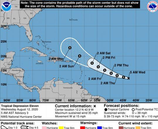 В районе Доминиканы пройдет шторм