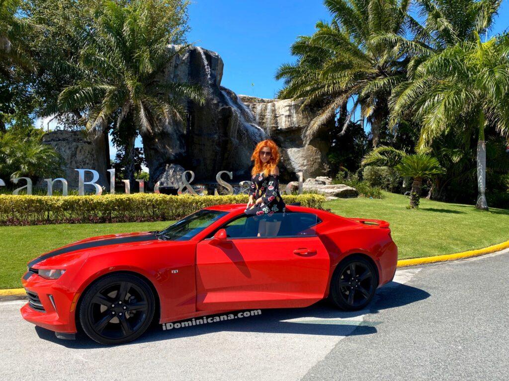 Авто Доминикана (аренда): красный Chevrolet Camaro