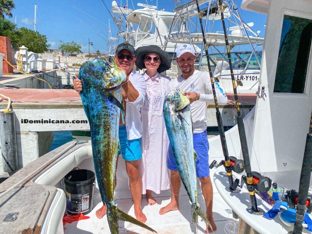 Рыбалка в Доминикане: поймали самую большую дорадо в 2020 г.