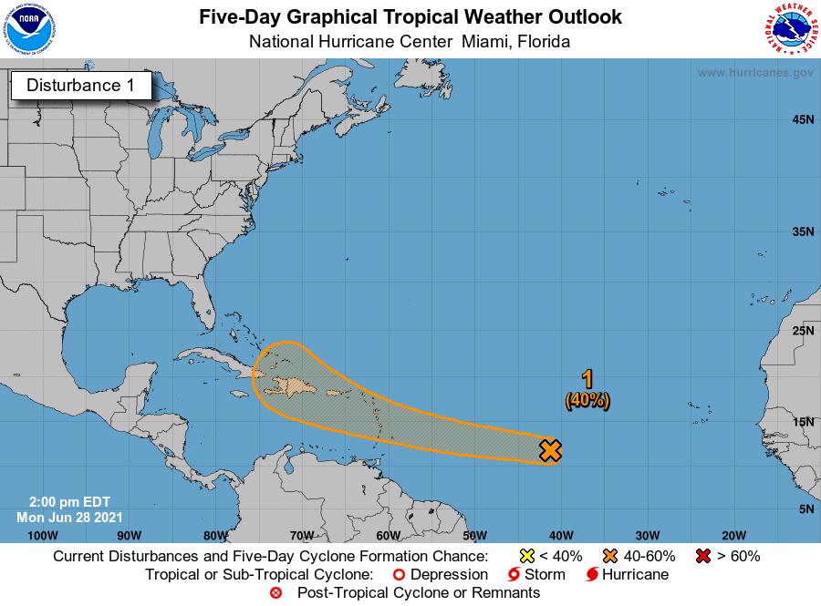 К Республике Доминикана приближается первый в 2021 году шторм