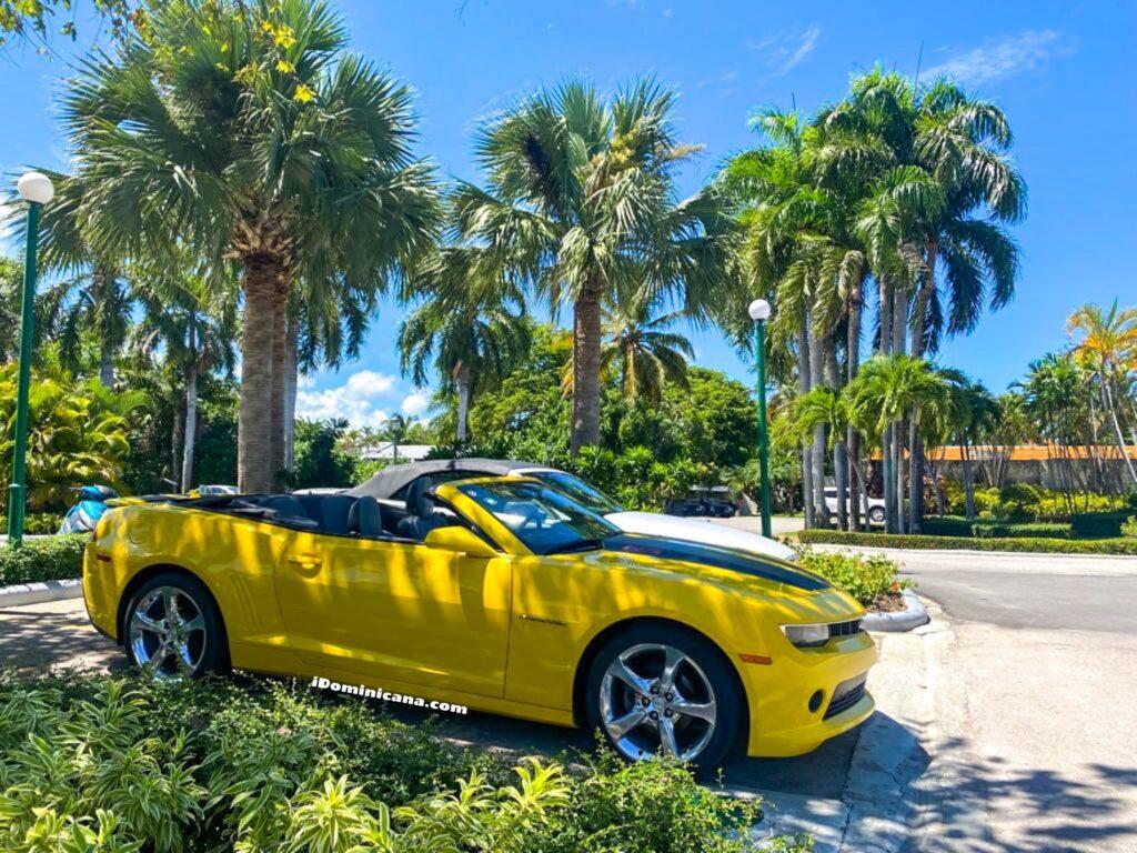Авто Доминикана: желтый кабриолет Chevrolet Camaro 2015